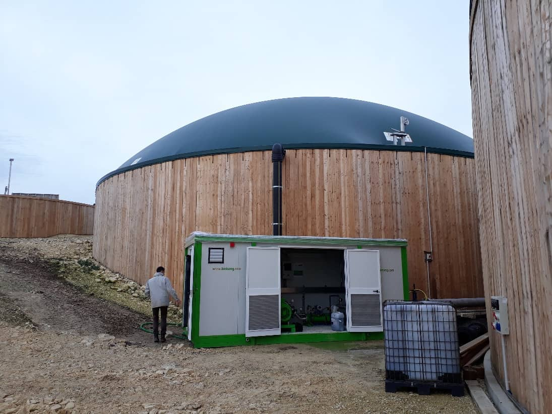 BioBANG installed on biogas plant in France